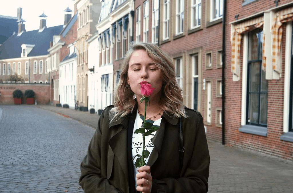 Outfit – Roze rozen, basics en panterprint